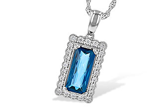 B217-80835: NECK 1.55 LONDON BLUE TOPAZ 1.70 TGW