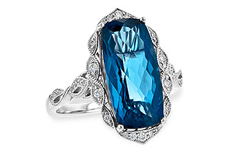 F217-74462: LDS RG 6.75 LONDON BLUE TOPAZ 6.90 TGW