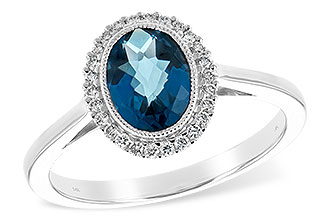 G216-83571: LDS RG 1.27 LONDON BLUE TOPAZ 1.42 TGW